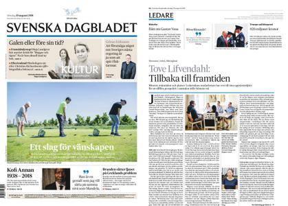 Svenska Dagbladet – 19 augusti 2018