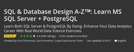 Udemy - SQL & Database Design A-Z™: Learn MS SQL Server + PostgreSQL