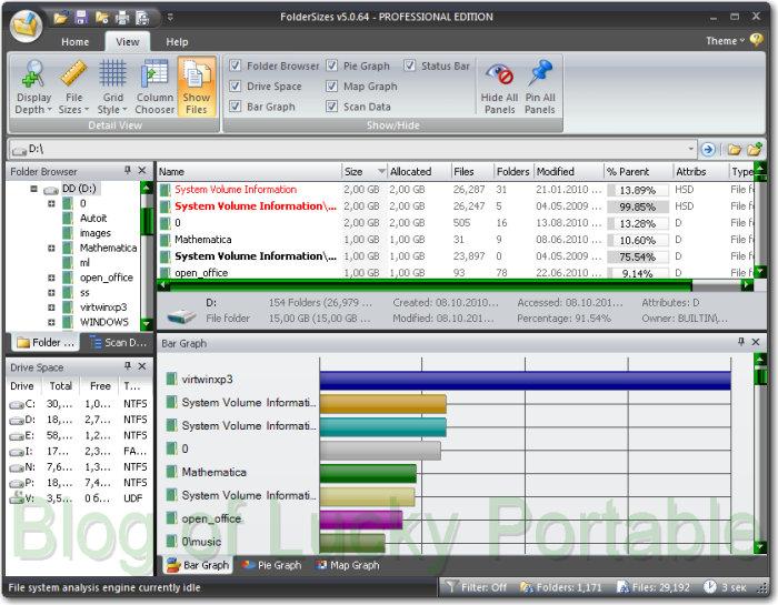 FolderSizes v5.5.40 Professional Edition Portable
