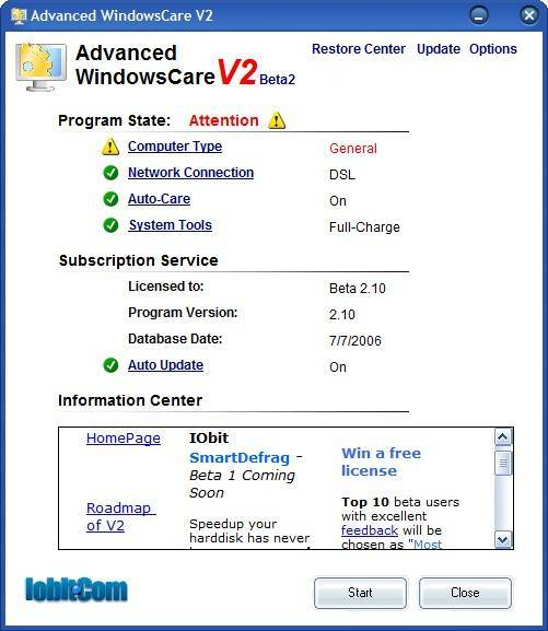 Advanced WindowsCare 2.10 Personal
