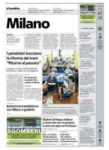 la Repubblica Milano - 11 Luglio 2018