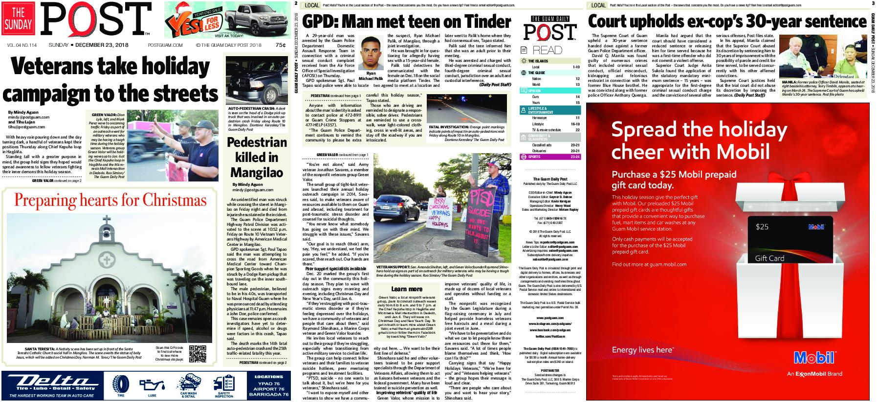The Guam Daily Post – December 23, 2018
