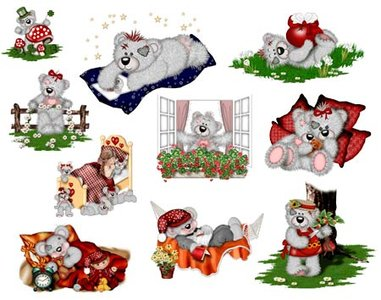 Little Teddy Bears - Clipart for Photoshop