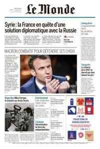 Le Monde du Mardi 17 Avril 2018