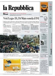 la Repubblica - 28 Marzo 2018