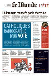 Le Monde du Jeudi 15 Août 2019