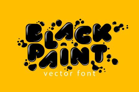 Black Paint AI and EPS Font