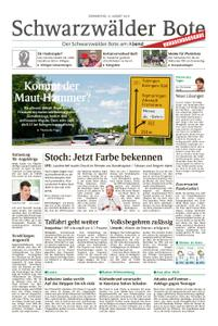 Schwarzwälder Bote Blumberg - 15. August 2019