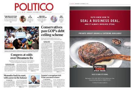 Politico – September 06, 2017