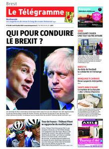 Le Télégramme Brest Abers Iroise – 22 juillet 2019