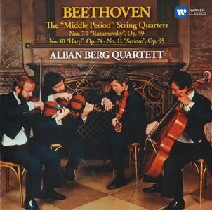 """Beethoven - The """"Middle Period"""" String Quartets - Alban Berg Quartett (2016) {2CD Warner Classics rec 1978-1979}"""