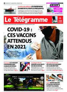 Le Télégramme Brest Abers Iroise – 16 novembre 2020