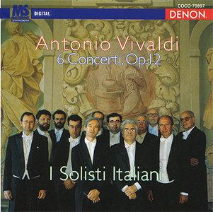 """Antonio Vivaldi - I Solisti Italiani - 6 Violin Concerti Op.12 (1994, reissue 2007, Denon """"Crest 1000"""" # COCO-70897) [RE-UP]"""
