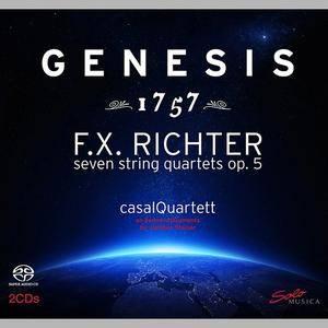Casal Quartett - Genesis 1757: F.X. Richter: 7 String Quartets Op.5 (2CD) (2014)