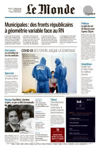 Le Monde du Dimanche 21 et Lundi 22 Juin 2020