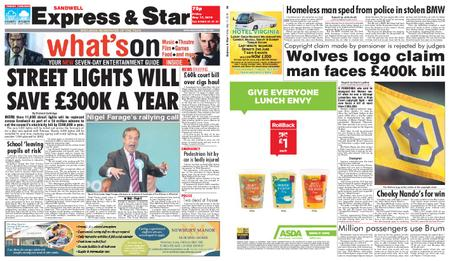 Express and Star Sandwell Edition – May 17, 2019