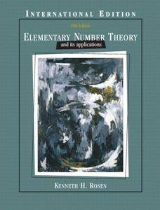Elementary Number Theory and Its Applications, 5th edition (Repost)