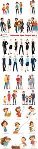 Vectors - Different Flat People Set 5