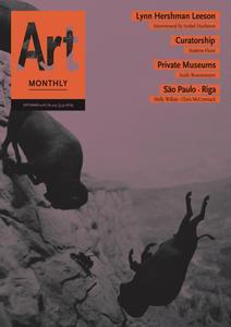 Art Monthly - September 2018   No 419