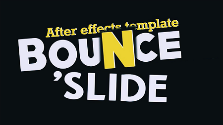 Fresh Animated Titles – Bounce n' Slide 10513014 After Effects Template