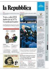 la Repubblica - 27 Gennaio 2018
