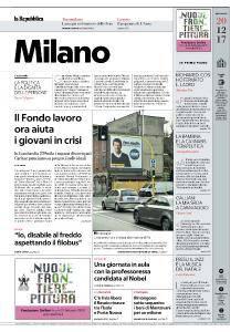la Repubblica Milano - 20 Dicembre 2017
