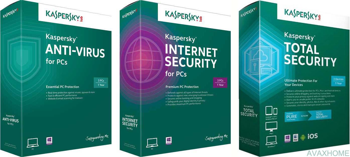 Kaspersky Internet Security / Anti-Virus / Total Security 2017 v17.0.0.611.0.213.0