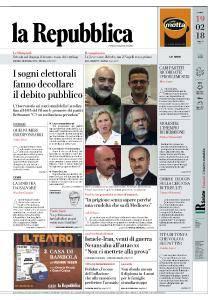 la Repubblica - 19 Febbraio 2018
