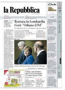 la Repubblica - 13 Gennaio 2018