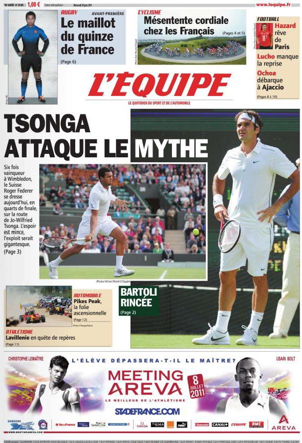 L'EQUIPE (29 Juin 2011)