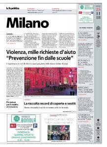 la Repubblica Milano - 25 Novembre 2018