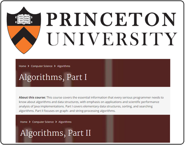 Coursera: Algorithms - Princeton University (Part I + Part II)