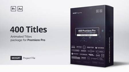 Mogrt Titles - 300 Animated Titles for Premiere Pro & After Effects (Videohive)