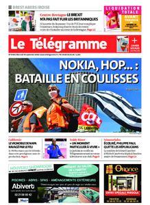 Le Télégramme Brest Abers Iroise – 30 septembre 2020