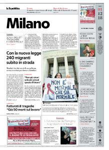 la Repubblica Milano - 1 Dicembre 2018