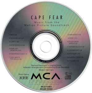 Bernard Herrmann - Cape Fear: Music from the Motion Picture Soundtrack (1991) Arranged and Conducted by Elmer Bernstein