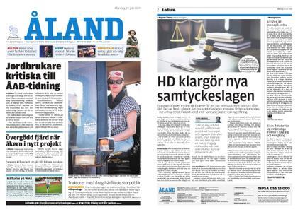Ålandstidningen – 15 juli 2019