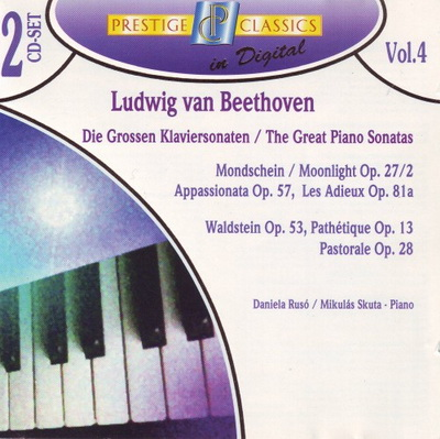 Ludwig van Beethoven - Piano Sonatas No. 8, 14, 21, 23, 26 (Daniela Ruso), 15 (Mikulas Skuta) (1996)