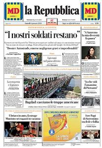la Repubblica - 6 Gennaio 2020