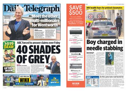 The Daily Telegraph (Sydney) – October 26, 2018