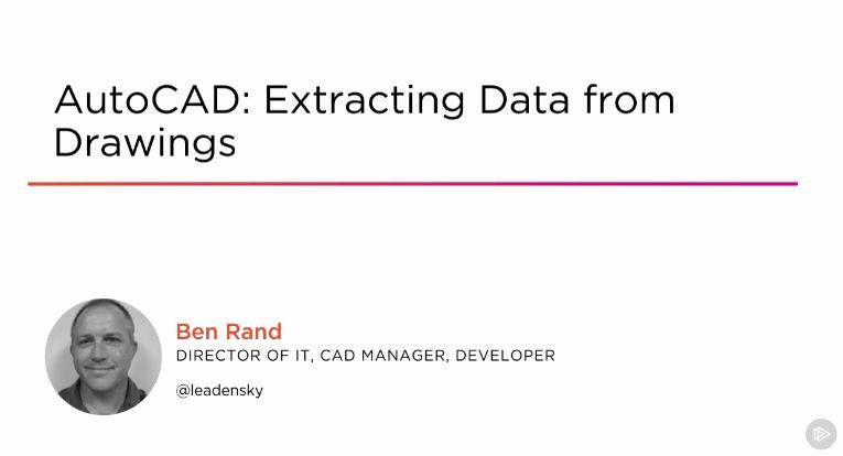 AutoCAD: Extracting Data from Drawings