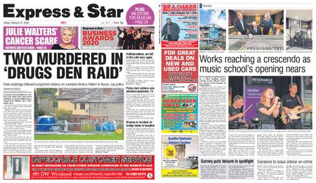 Express and Star City Edition – February 21, 2020