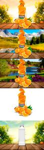CreativeMarket - Bottle Juice Mockup Advertising - 3728390