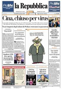 la Repubblica - 30 Gennaio 2020
