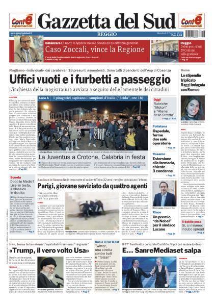 Gazzetta del Sud Reggio Calabria - 8 Febbraio 2017