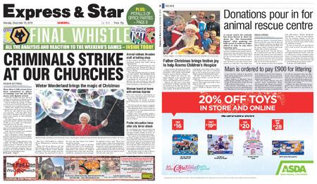 Express and Star Sandwell Edition – December 16, 2019