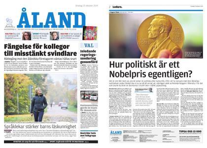 Ålandstidningen – 23 oktober 2019