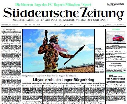 Süddeutsche Zeitung vom 07 März 2011