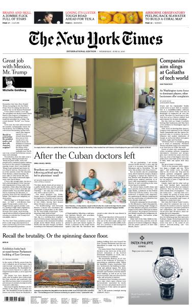International New York Times - 12 June 2019