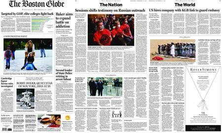 The Boston Globe – November 15, 2017